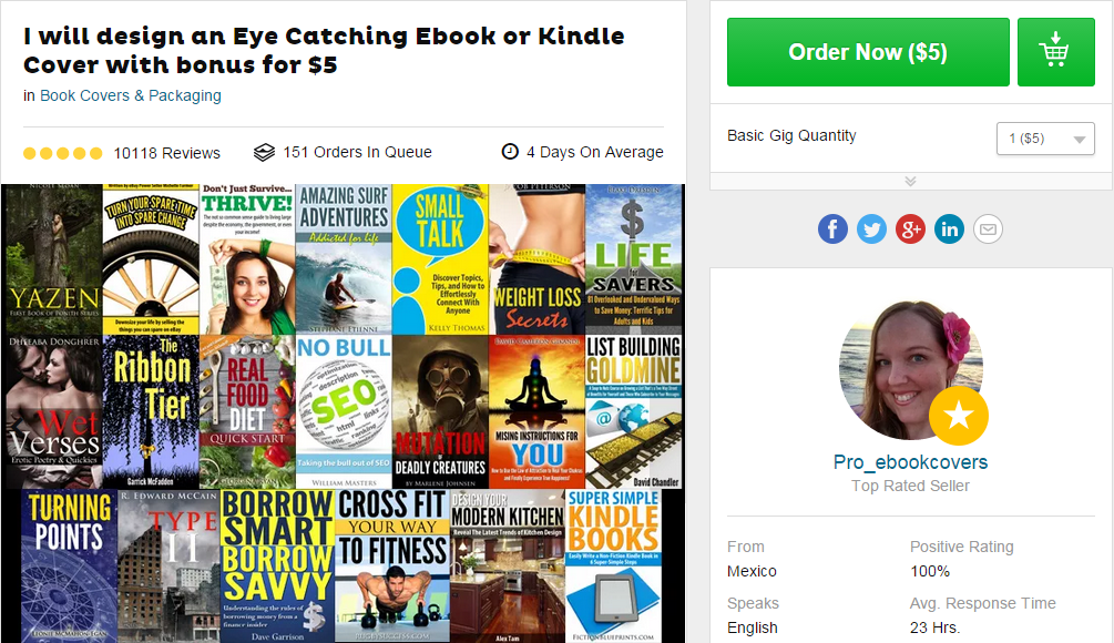 eBook Covers Fiverr