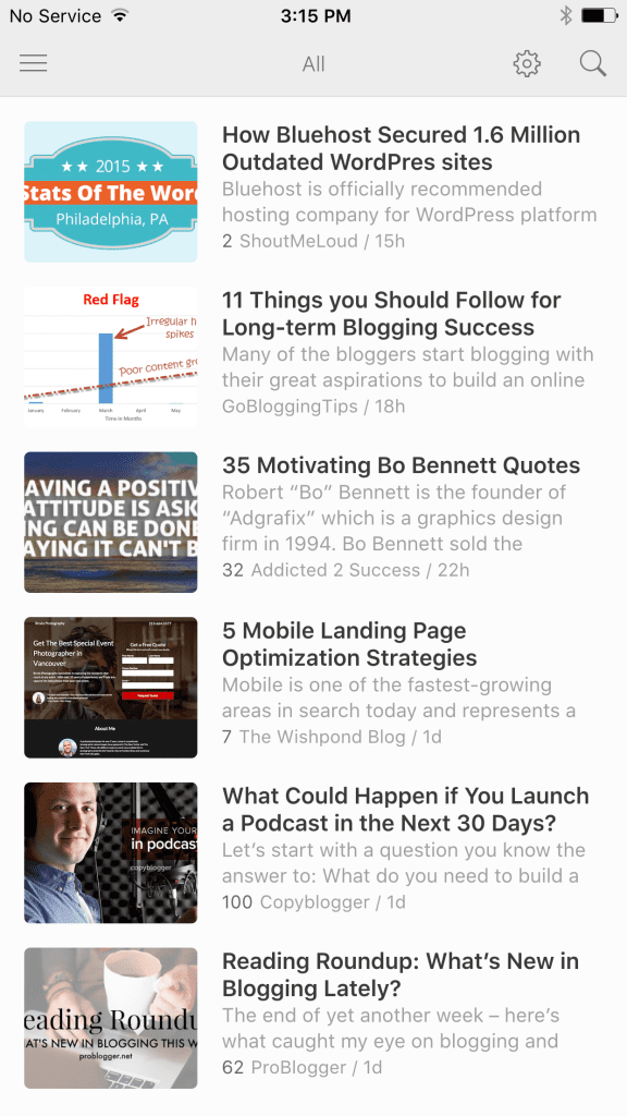 Feedly App iOS