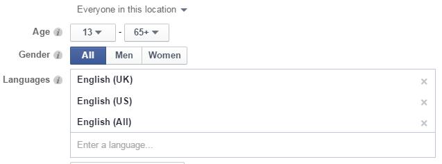 facebook demographics targeting