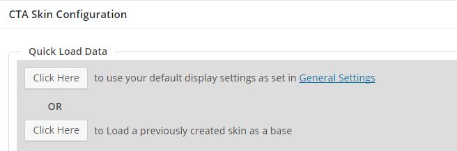 cta skin configuration